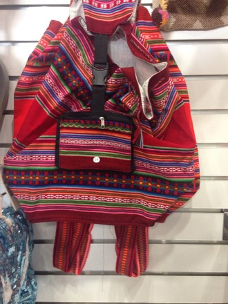 bag multicolor cloth backpack 90s style backpack hippie boho bag