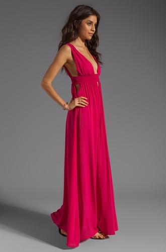 v dress long dress pink dress pink 2014 full length forever hill model heart ball sparkle sequins