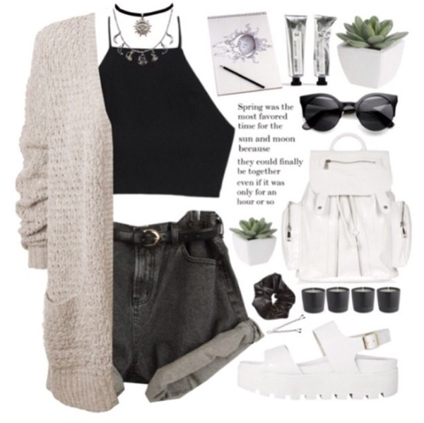 cardigan outfit jewelry indie dope instagram hipster jewels bag boho dress boho silver ring necklace choker necklace black choker
