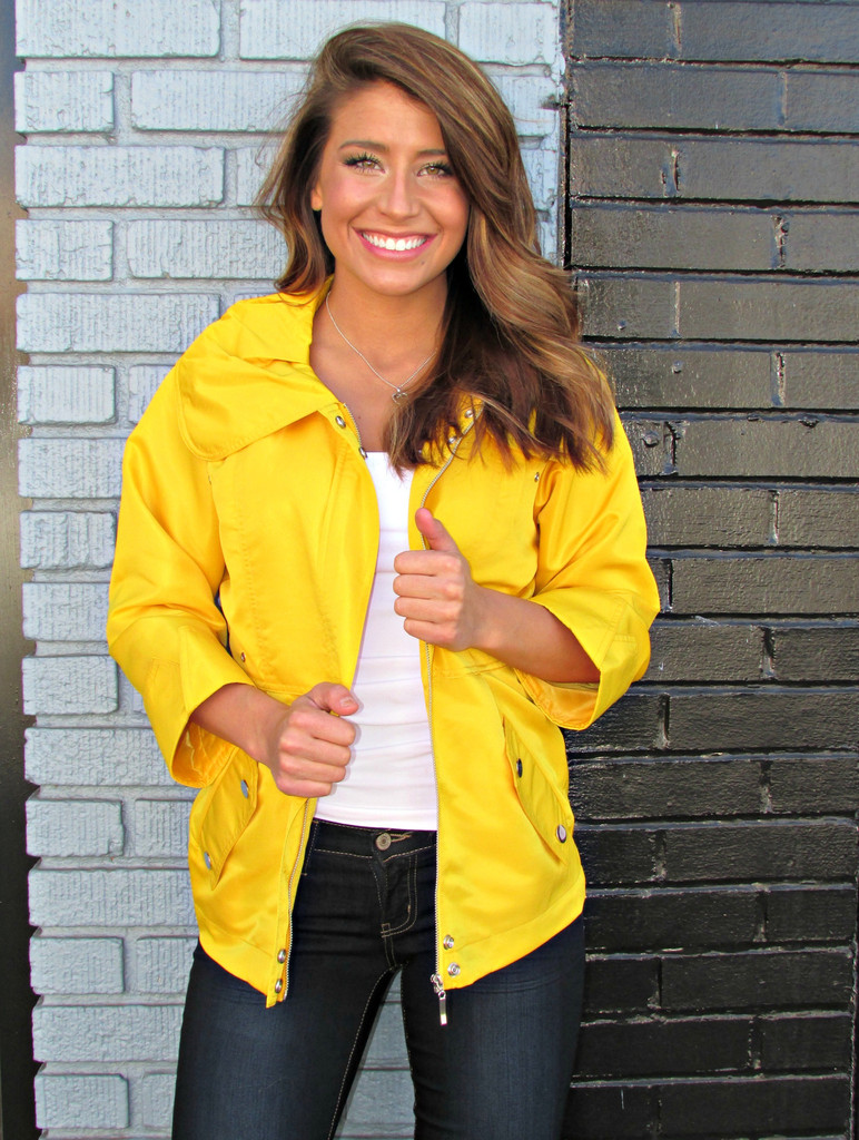Yellow Rain Jacket by Luii - Cocobella Boutique | Online Women's ...