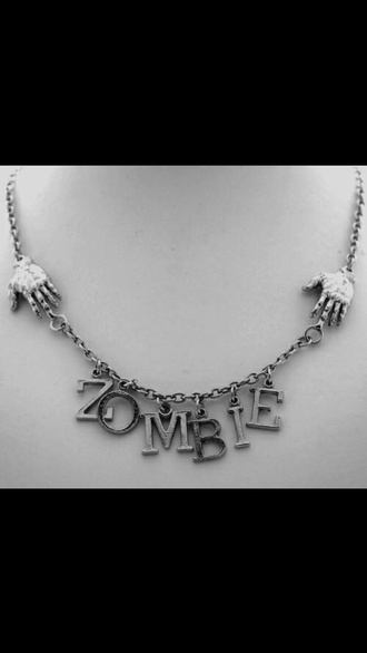 jewels zombie claws necklace metal chain