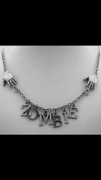 chain jewels necklace zombie claws metal