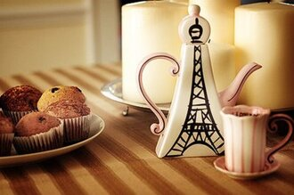 t-shirt teapot food home nice cute french eiffel tower mug breakfast jewels