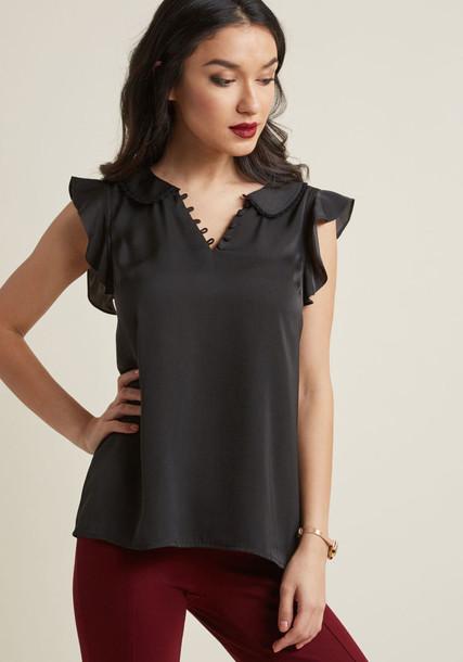 MCT1495 blouse top black blouse style black