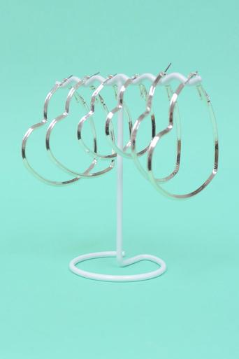 Ladies Lilo Heart Hoop Earring Set | Pop Couture
