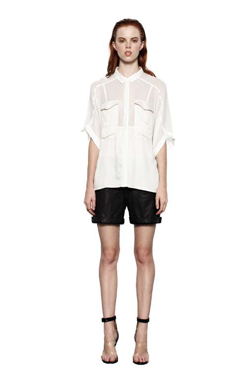 BECK DOLMAN SLEEVE BUTTON DOWN — ADDISON