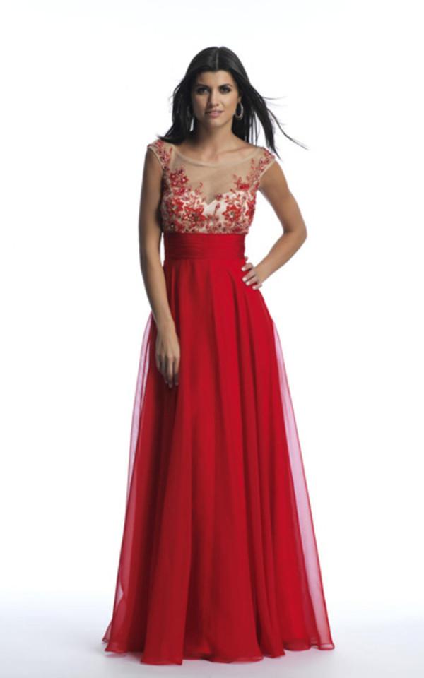 dress long prom dress long red dress