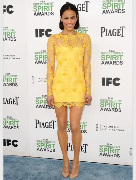 yellow dress short
