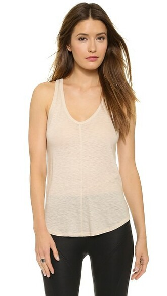 v neck nude top