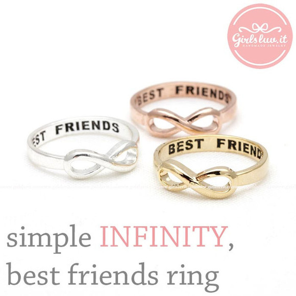 jewels jewelry friendship infinity infinity ring ring best friends ring best friends forever infinity best friends ring