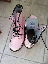 Rare Dr Martens Patent Light Pink 8-eyelet 1460 Boots Shoes 5 38 7