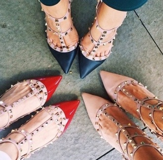 shoes valentino studs high heels