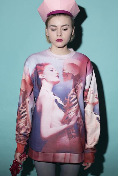 sweater clothes fashion alternative skeleton alternative alternative graphic sweater
