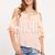 Pink Cold Shoulder Ruffle Blouse -SheIn(Sheinside)