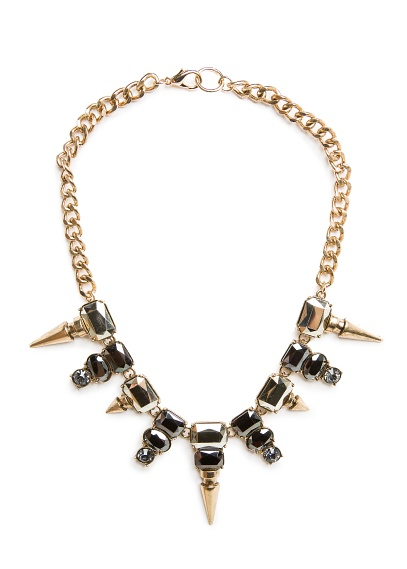 MANGO - ACCESSORIES - Jewellery - SPIKES AND CRYSTALS NECKLACE