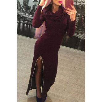 dress stylish sweater dress casual rose wholesale