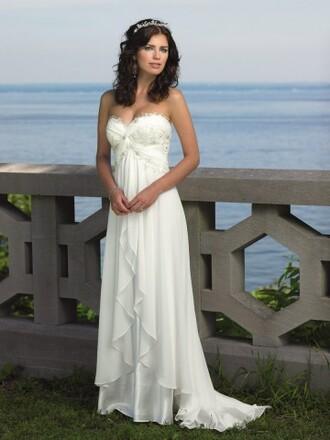 dress chiffon wedding dress beach wedding dress