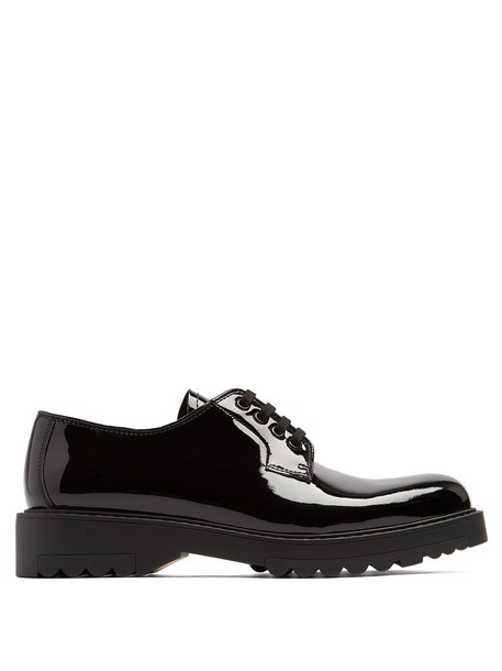Prada leather shoes shoes lace leather black