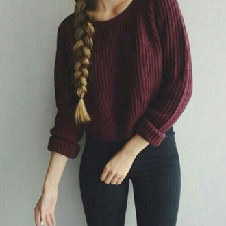 sweater red sweater