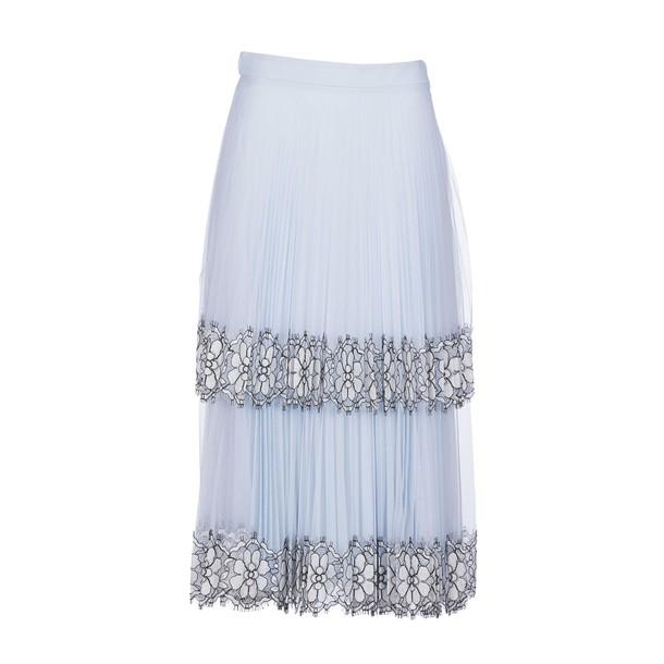 skirt midi skirt pleated midi light blue light blue