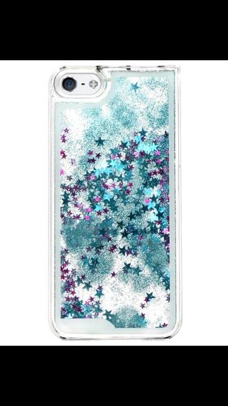 phone cover glitter waterfall phone case