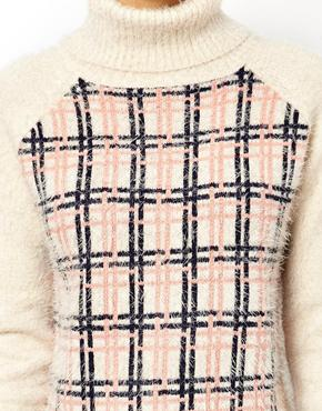 ASOS | ASOS Checked Sweater With Roll Neck at ASOS