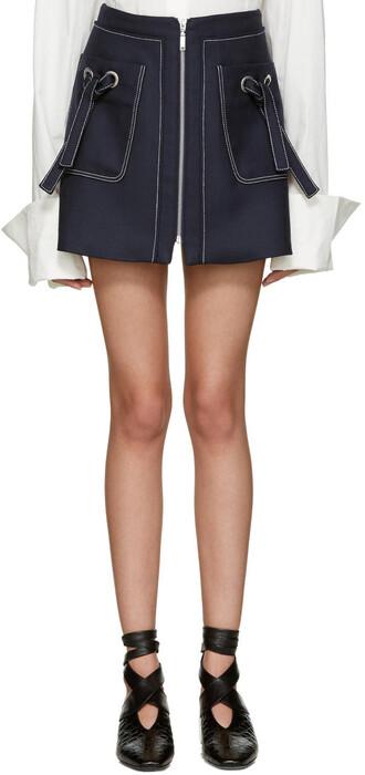 miniskirt navy skirt