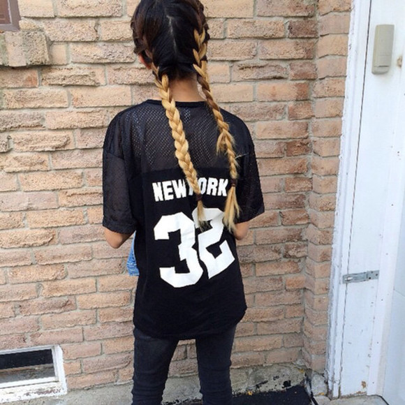 fishnet top ombre hair new york top hair plait