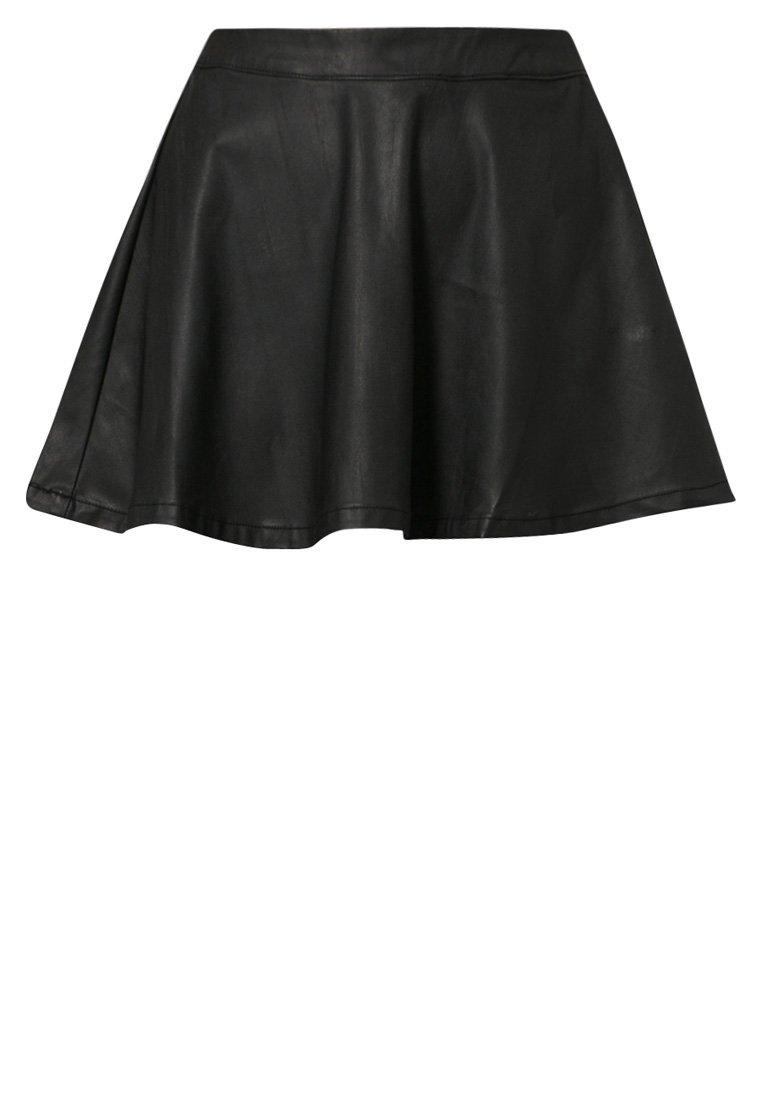 ONLY MARCH - Leather skirt - black - Zalando.co.uk