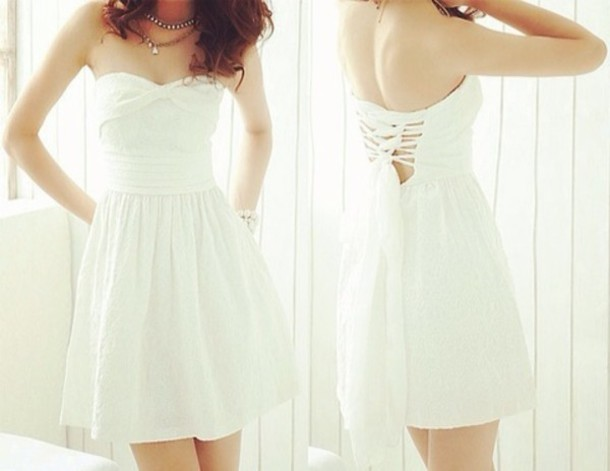 dress white cute