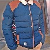 jacket,navy,brown,side pattern