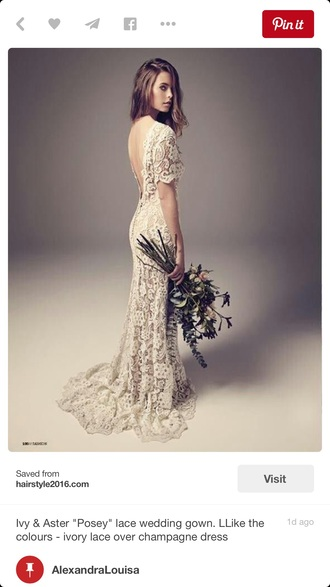 dress lace dress ivory