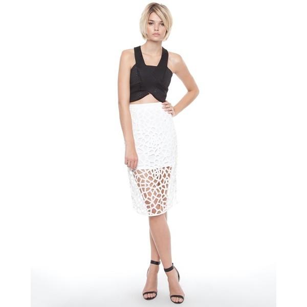 Paper Cut Pencil Skirt - Polyvore