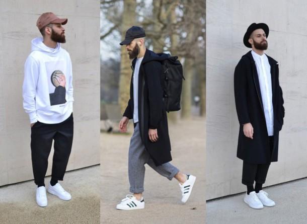 Pants Boy Menswear Grey Fashion Black Hipster