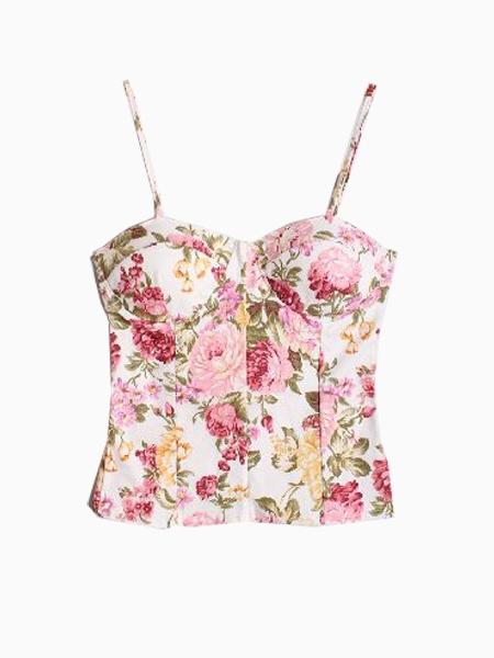 Vintage Floral Corset Vest | Choies