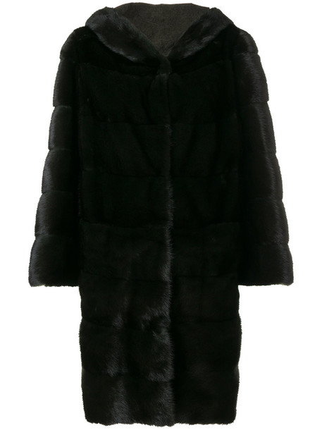 Arma coat oversized coat oversized fur women classic green