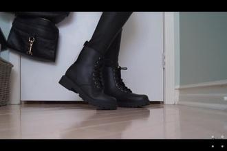 shoes black emo grunge tumblr combat boots