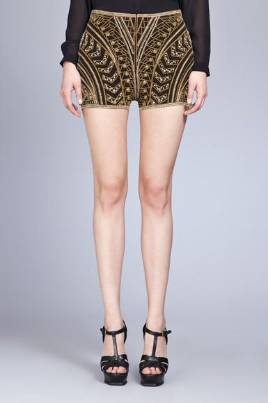 shorts black shorts embellished shorts