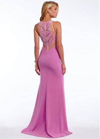 dress back pink dress geometric