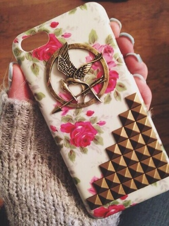 jewels the hunger games mockingjay pin iphone case belt