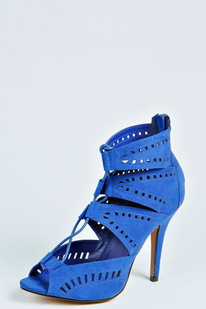 shoes pumps heels blue navy summer style fashion cool electrick blue