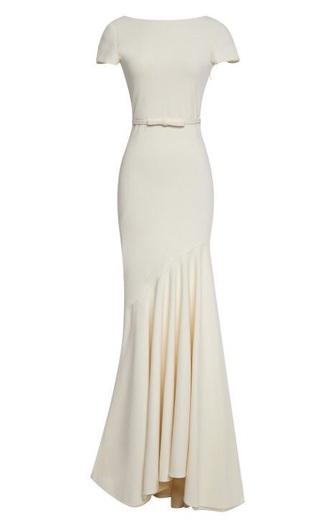 dress prom dress long dress bow bow dress gorgeous beautiful prom cream