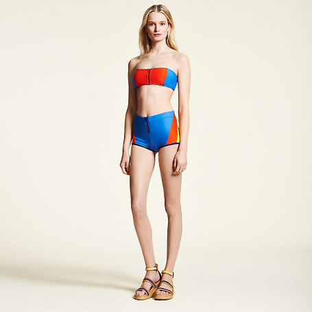 Tommy hilfiger zipped bandeau bikini bikini