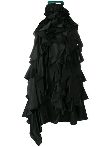 Saint Laurent dress women black silk