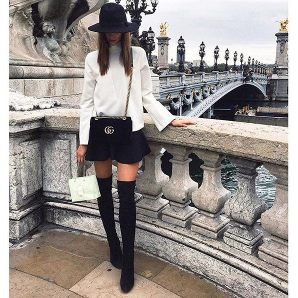 6930ebe21012 shoes tumblr over the knee boots over the knee black boots mini skirt black  skirt hat