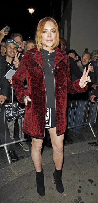fall outfits lindsay lohan coat