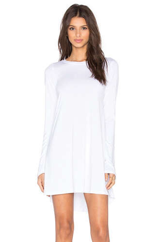 dress long sleeve dress long white