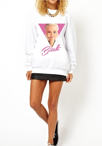 sweater barbie shirt barbie face sweatshirt sweatshirt white sweater black sweatshirt pink \ pink pink sweatshirt pink sweater barbie barbie top barbie sweatshirt malibu barbie barbie logo barbie face top barbie face shirt gossip girl girly bitch bad bitches link up trust no bitch best bitches bitch tops pretty bitches bitch 1 cheerleading bitchdon'tkillmyvibe pink dress black