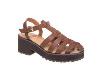 shoes brown gladiators brown platform platform shoes anklestrap