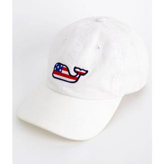 hat whale white vineyard vines july 4th baseball hat